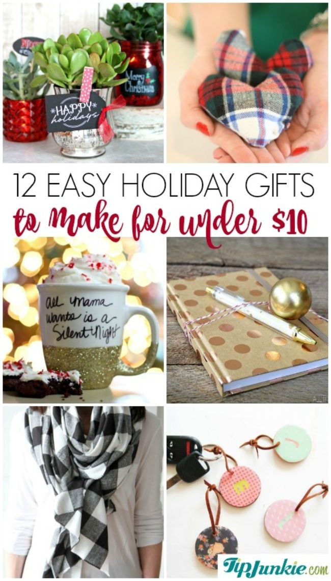 Easy Holiday gifts to make for under $10