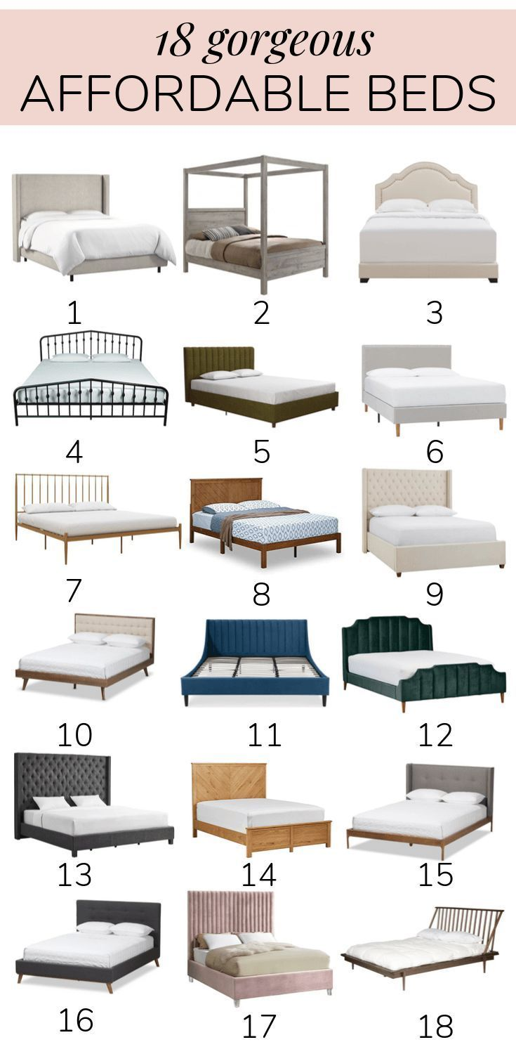 Beautiful Affordable Beds In Every Style If You Re Looking For A Cheap Bed Frame This Post Will Have One Cheap Bed Frame Affordable Bed Frames Cheap Bedding