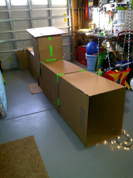 I've been saving our shipping boxes from Christmas gifts so the kids can do this over Christmas break.
