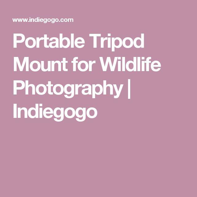 Portable Tripod Mount for Wildlife Photography   Indiegogo