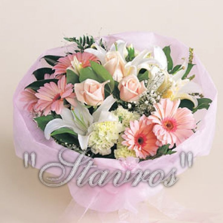 romantic pink and white bouquet..!!!