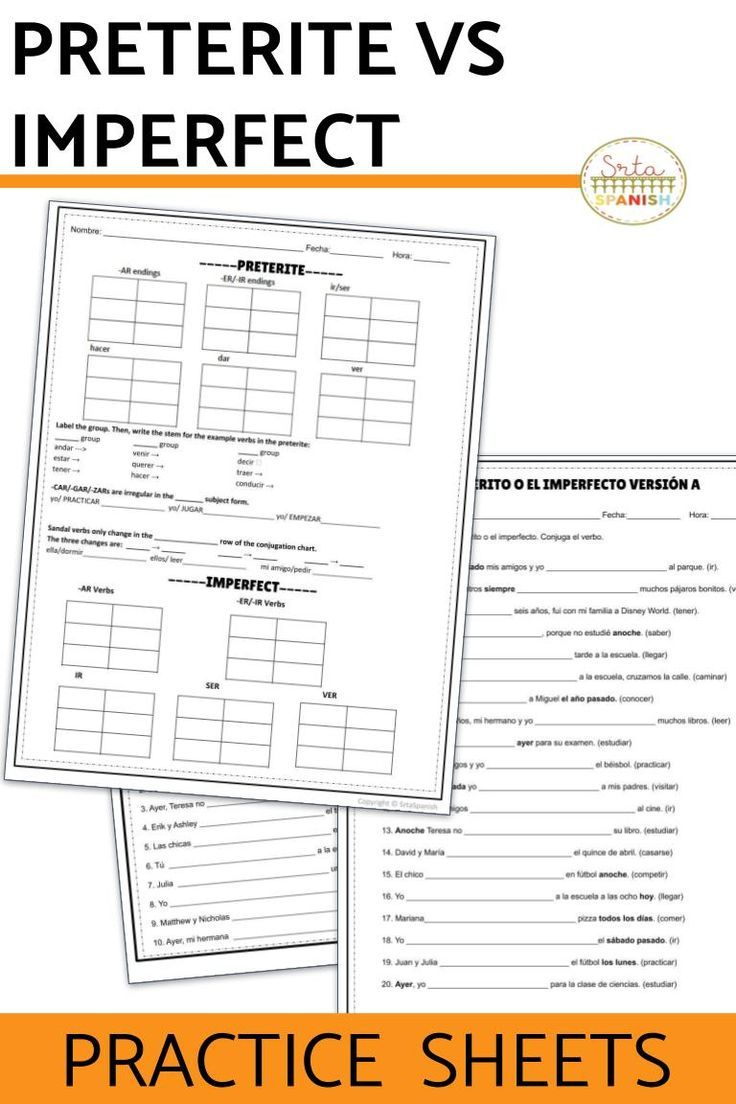 Are You Looking For Activities To Practice Preterite Vs Imperfect With Your Spanish Classes This Set Of Wor Preterite Spanish Lesson Plans High School Spanish [ 1104 x 736 Pixel ]