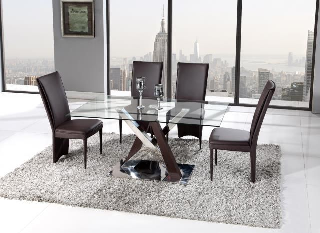 Glass Top Dining Table Set Global Furniture Usa D4100