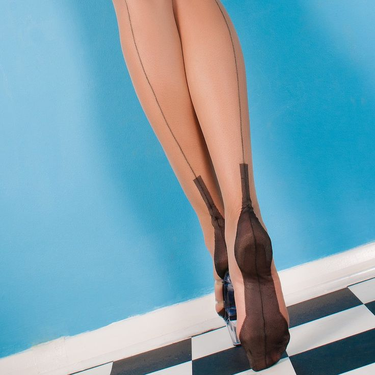 NylonDreams FF Cuban Heel, Stockings Fully fashioned