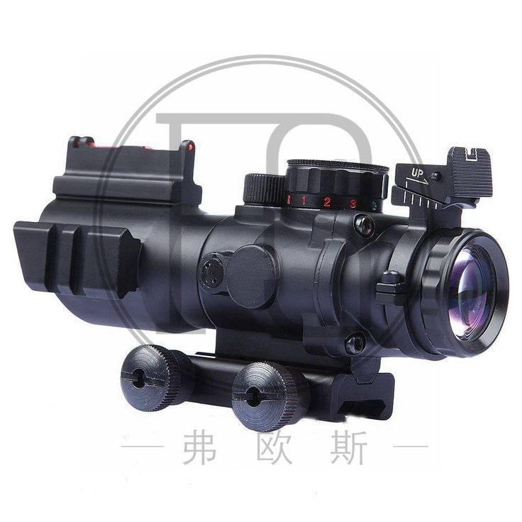 High Quality Tactics ACOG 4X32 Range Vision True Red / Green Fiber Red Dot Range and Double Lighting Chevron Ballistic Tactical
