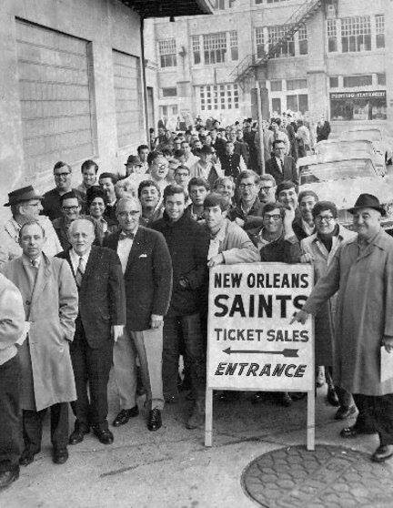 In line for Saints tickets 1967