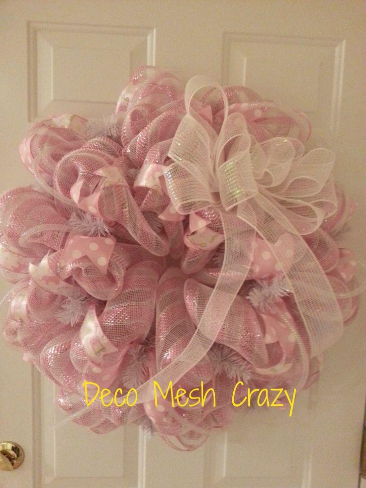 Baby Girl Deco Mesh Wreath- http://www.facebook.com/decomeshcrazy