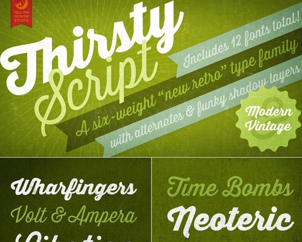 25 Fresh Free fonts Created In 2014