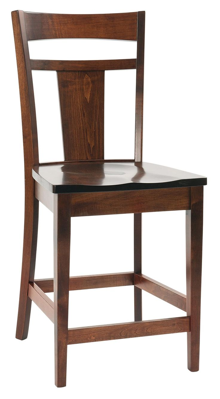 Amish Livingston Contemporary Bar Stool The dynamic shape of the Amish Livingston Contemporary Bar Stool shines in quarter sawn white oak wood. Liven up a contemporary counter with these solid wood stools.