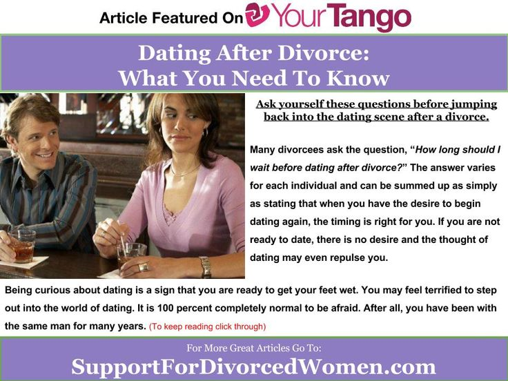 Rules of dating after divorce