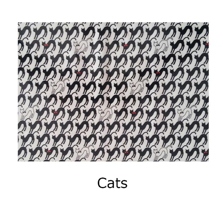 Tela laminada Cats. Tela de algodón laminada, Cats. Disponible para que combines a tu gusto el producto que desees.
