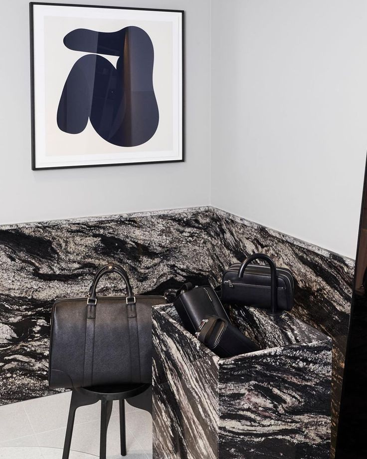 The TDE man zone.// shop personalised leather accessories via @thedailyedited www.thedailyedited.com // #thedailyedited #tde #leather #personalised #accessories #bag #monogram #style #streetstyle #travel #men #interior #marble