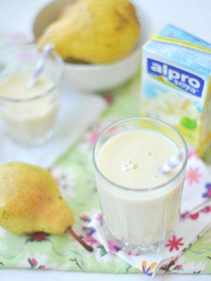 Körtés-vaníliás turmix Turmix receptünk nem tartalmaz tejszármazékot, így tejfehérje allergiások ás laktózintoleranciások is fogyaszthatják! Körtés-vaníliás turmix recept