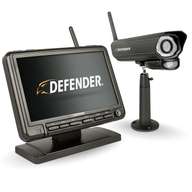 Defender PHOENIXM2 Digital Wireless 7 in. Monitor DVR Security System with Night Vision Camera and SD Card Recording