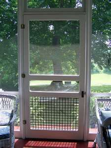 perfect screen door for screened in decks/porches ~ one on each side of front porch to side porches.                                                                                                                                                      More
