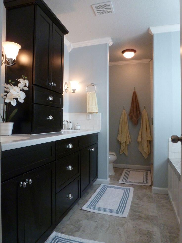 Best 25 black bathroom vanities ideas on pinterest black cabinets bathroom bathroom vanities for Black bathroom cabinet