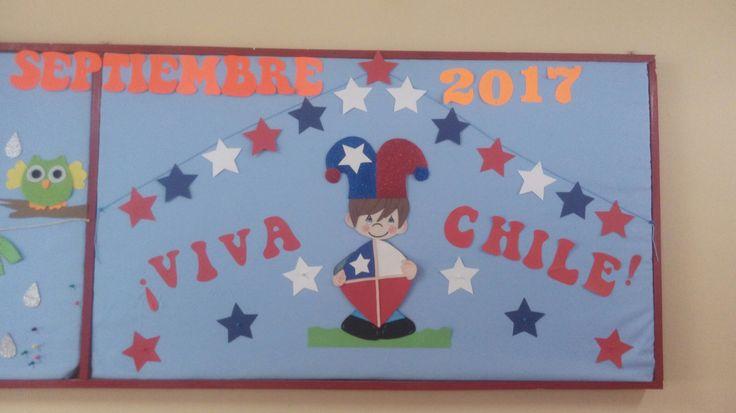 #fiestaspatrias #chile #colegio #mural