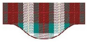 M. Richard Allan, de Kinnear's Mills, que nous devons la conception du tartan des Cantons-de-l'Est.  En 1974, il se rendit en Écosse afin de faire authentifier l'étoffe. Il fut le fondateur de la Megantic Historical Society et propriétaire du dernier moulin à vapeur du comté de Mégantic.  Kinnear's Mills est donc fière de reconnaître ce tartan qui, par ses couleurs, rappelle les beautés des paysages des cantons :  le vert luxuriant des collines, le blanc glacé de la neige, le riche brun de