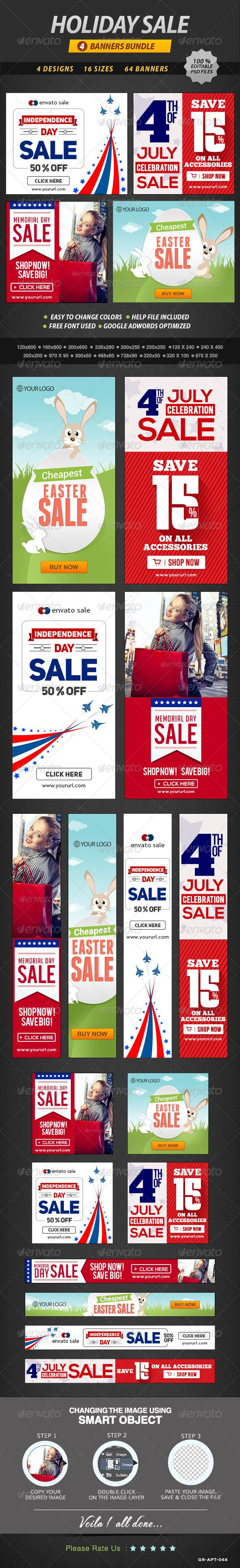 Holiday Sale Banner Bundle Template PSD | Buy and Download: http://graphicriver.net/item/holiday-sale-banner-bundle-4-sets/8548360?WT.ac=category_thumb&WT.z_author=doto&ref=ksioks