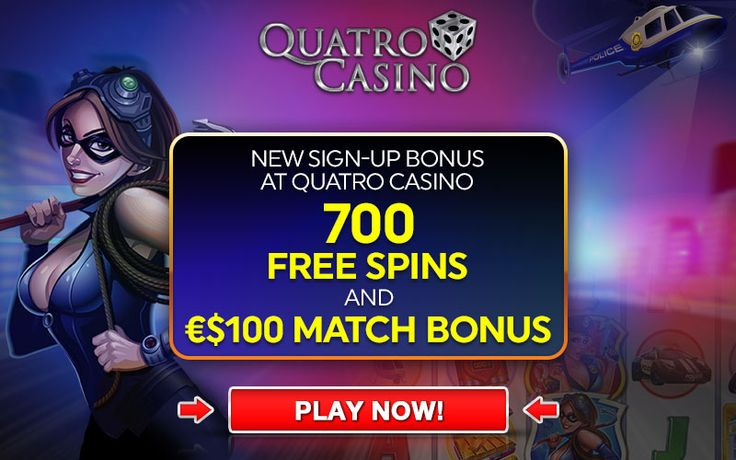 Quatro Casino Get up to 100 Free Spins a day for 7 days, total 700 Free Spins! CasinoRewardsGroup