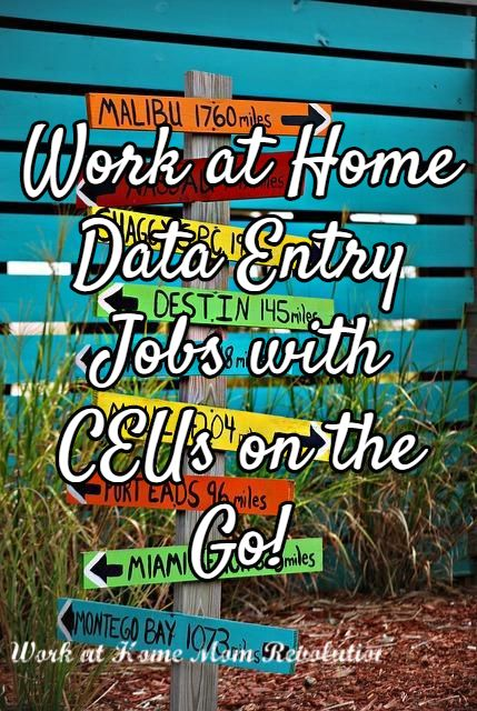 Work at Home Data Entry Jobs with CEUs on the Go!