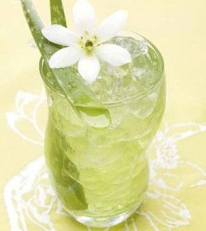 ALOE VERA ICE RECIPE WITH LIME ESSENCE