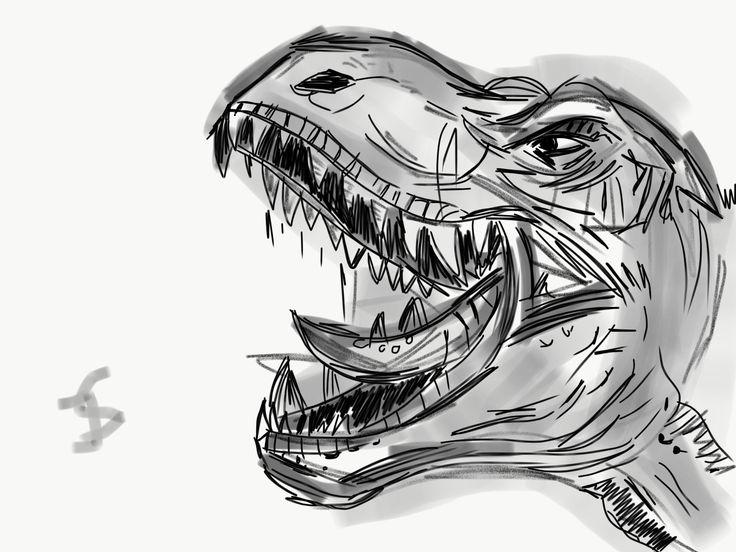 #dinasour  #sketch #drawing