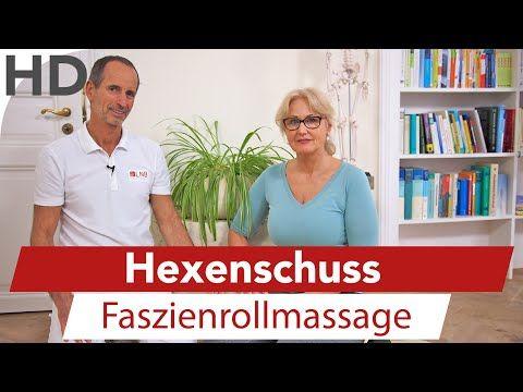 Hexenschuss Übungen mit der Faszienrolle // Übungen gegen Lumbago - YouTube