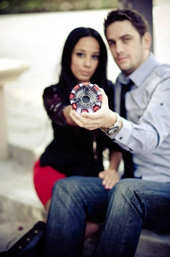iron man wedding | ... Proposal? Man Places Wedding Ring Inside Modded Iron Man Arc Reactor