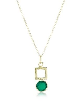 66% OFF Betty Carre Square & Green Onyx Necklace