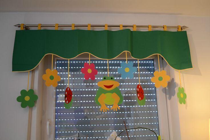 Vorhang Querbehang Fensterdeko Kindergardine Motiv grün 140 - 180 cm Handarbeit in Möbel & Wohnen, Rollos, Gardinen & Vorhänge, Gardinen & Vorhänge | eBay!