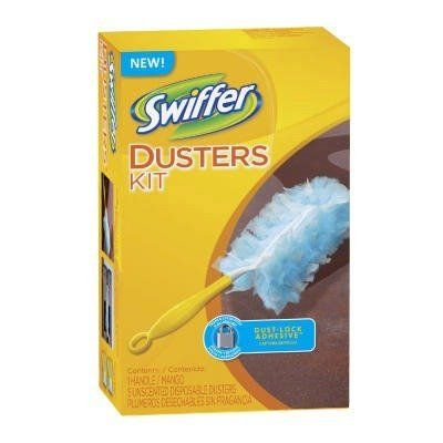 Duster Starter Kit by Swiffer. $61.94. 40509 Features: -Duster starter kit.-Trap-and-Lock fibers.-Disposable heads.-Comfortable handle. Dimensions: -Handle length: 6''.