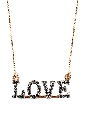 LOVE necklace pink gold! You ll love it!