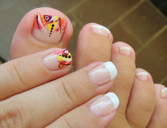 fall toe nail design