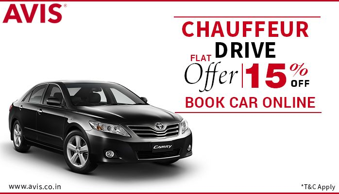 Discover the greatest happiness of a swift ride with AVIS Chauffeur Drive at a Flat 15% off. Our well-trained chauffeurs will drive you off to your desired location that would make you drop your worries of reaching on time! AVIS India has been your most trusted car-rental company that operates in most of the well-known cities in India and abroad.