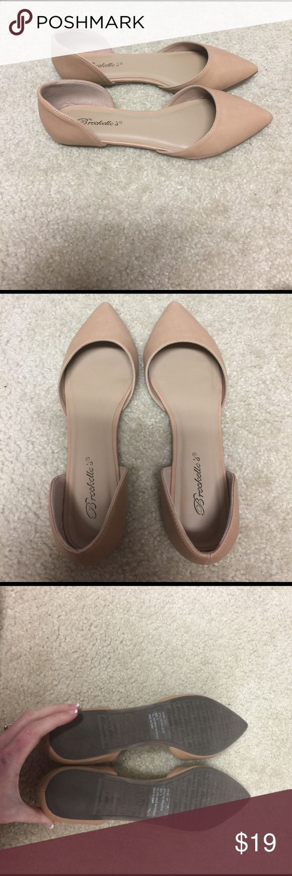 Nude flats from Red Dress Boutique Only worn once. Perfect condition. Too big for me Shoes