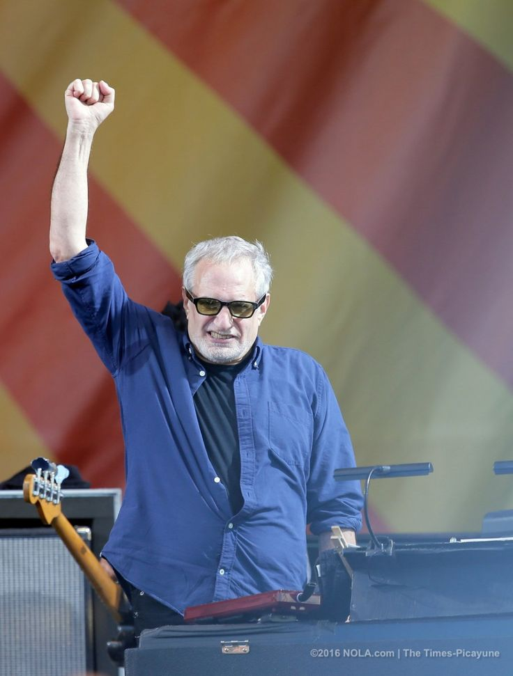Donald Fagen after the Steely Dan set on the Acura Stage  during the first day of the New Orleans Jazz Fest at the Fair Grounds Friday, April 22, 2016. (Photo by David Grunfeld, NOLA.com | The Times-Picayune)