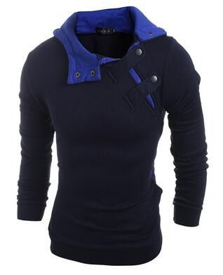 Hot 2017 New Arrival Gary Cotton Men Winter Hoodies Villus Male Sweatshirts High Quality Askew Button Hooded Brands Men's Coat