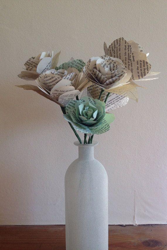 Roses de papier fait main par MalenaRose1 sur Etsy