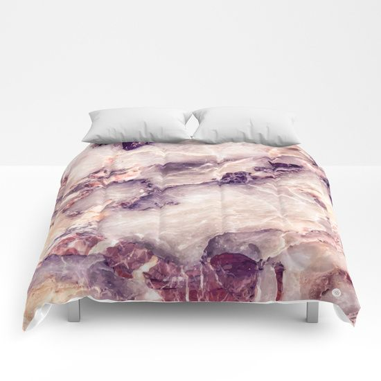Pink marble texture effect Comforters