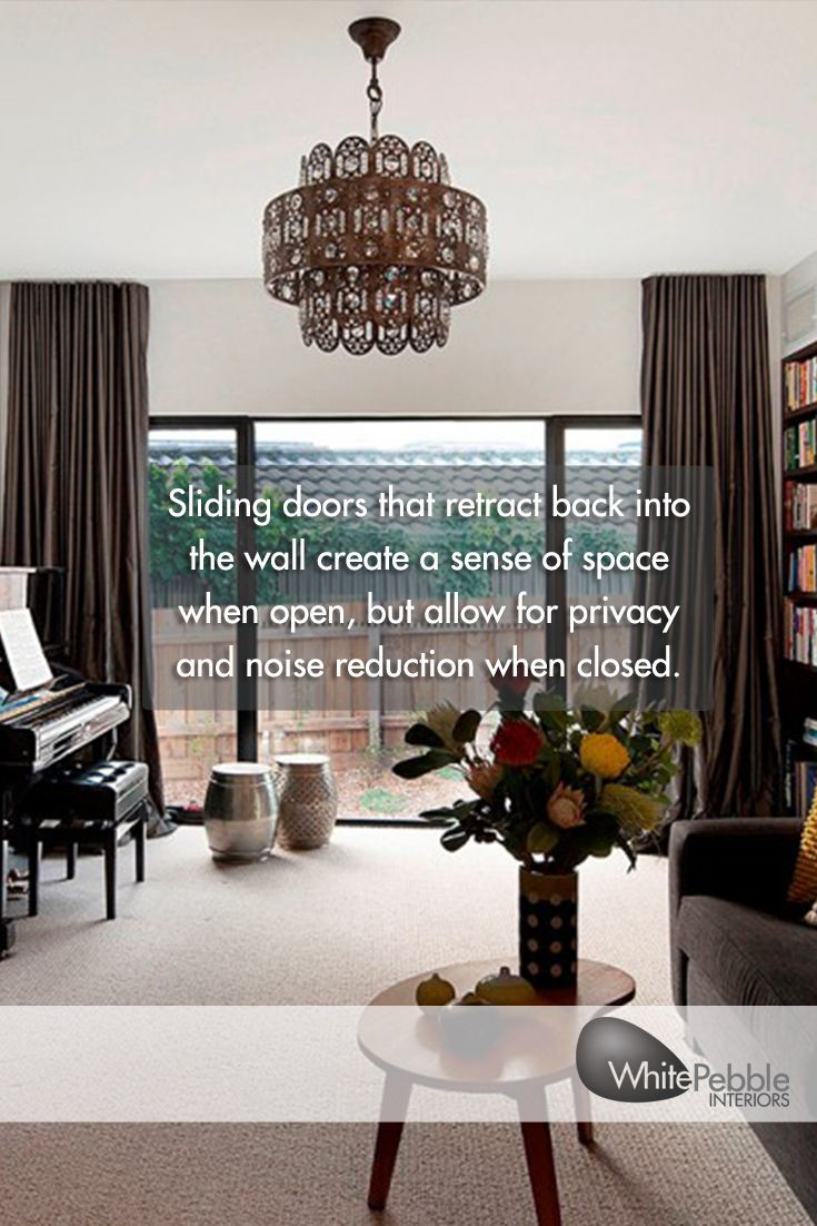 Sliding Doors That Retract Back Into The Wall Create A Sense Of Space When  Open,