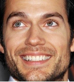 Henry Cavill - Perfect view of his sectoral heterochromia (brown spot on his left eye) <3