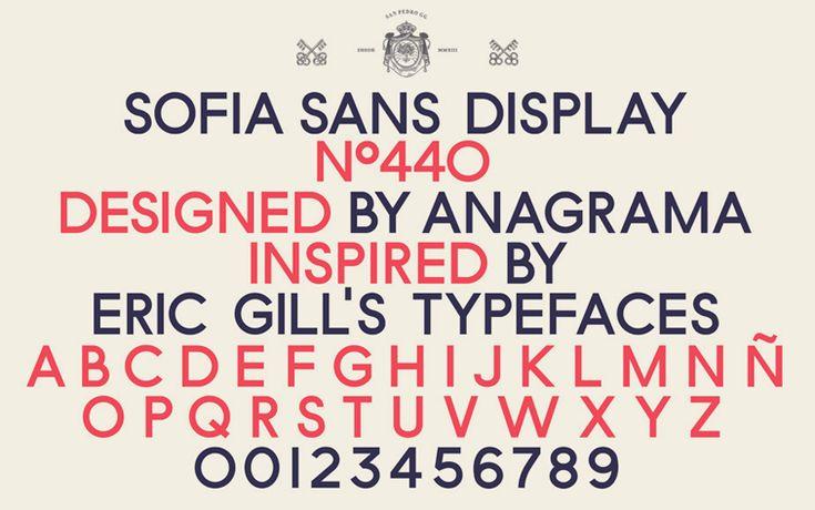 Sofia Sans Display by Anagrama