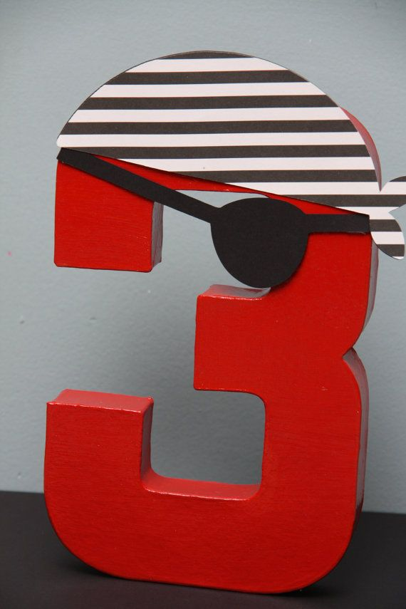 Pirate Paper Mache Letter or Number by CraftingCrew on Etsy