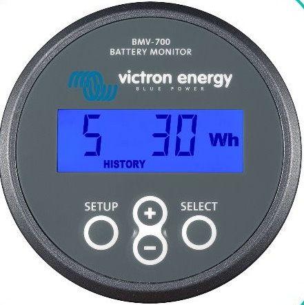 Batterimonitor Victron Energy BMV-700S med shunt til konstant måling af batterier