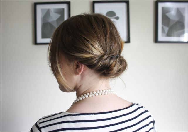 Easy Chignon for Bob Hair #beauty #beautyblogger #beautyblog #bblogger #bblog #hair #bob #shorthair #hairstyle