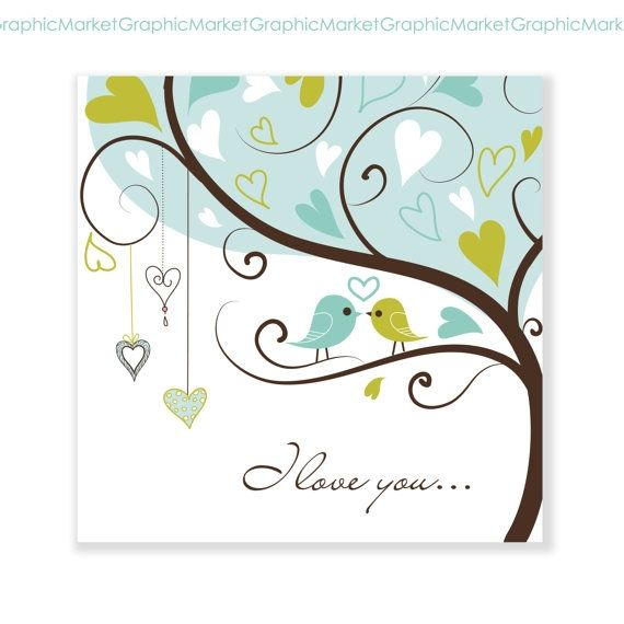Hand Drawn I love you Card - Luvly Marketplace   Premium Design Resources #cards #digitalcards