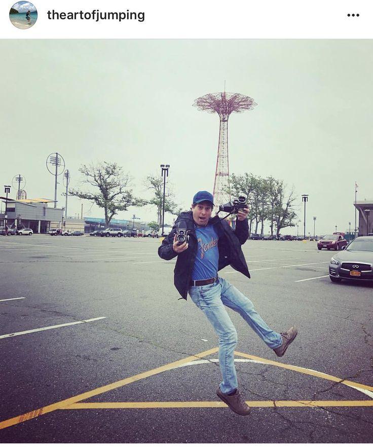 #Repost @theartofjumping #Photographer Daniel Nicoletta jumps with two twin lens reflex cameras at the 35th Annual Coney Island #Mermaid Parade #jump #theartofjumping #coneyislandmermaidparade #coneyislandmermaidparade2017 #mermaids #sirens #siren #ocean #beach #aquatic #marine #seashore #beachlife #takemetothesea #NYC #brooklyn #themermaidstudio #mermaidparade2017