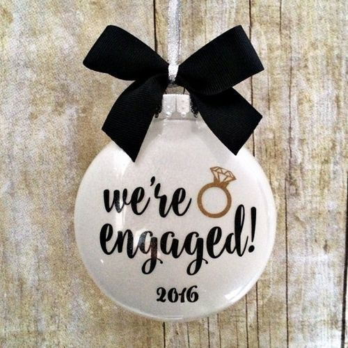 Engagement Ornament | Engagement Gifts For Couples, Him, Her, Fiance, Fiancee