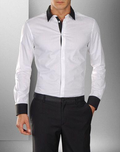 Camisas Blancas Para Hombre Wrangler | Camisa Vaquera. Fíjate en el detalle de la solapa imitando una ...